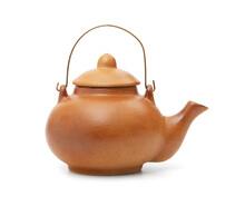 Ceramic Teapot Isolated On Whi...