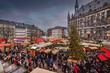 canvas print picture - Aachener Weihnachtsmarkt Blick auf den Markt