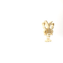 Gold Lobster Icon Isolated On ...