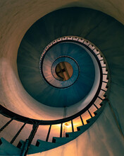 Spiral Staircase In The Building