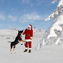 Illustration Of Santa Claus St...