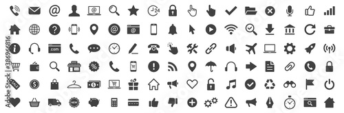 Web icon collection. Basic icons. Icon set. Vector
