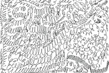 Grunge Texture Of Doodles, Random Spirals, Swirls, Drawn By Hand. Abstract Background Of Some Simple Spirals, Doodles. Vector Illustration. Overlay Template.