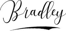 Bradley -Male Name Cursive Cal...