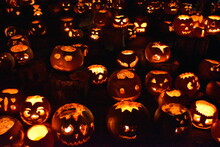 Originally Jack-o'-lantern Scared Evil Spirits Irish Set Carved Pumpkins Or Turnips By The Door And Windows Hoping That They Would Protect Them Modern Spooky Faces Pumpkin Carving Is For Entertainment