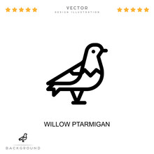 Willow Ptarmigan Icon. Simple Element From Digital Disruption Collection. Line Willow Ptarmigan Icon For Templates, Infographics And More