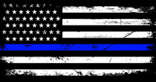 Vintage American Police Support Flag