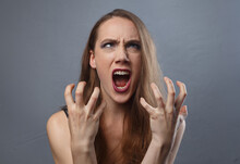 Photo Of Angry Woman With Brig...