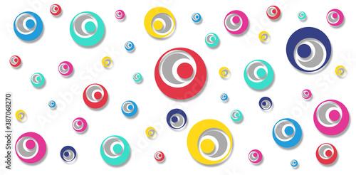 Plakaty kolorowe  wzor-z-kolorowym-kolkiem