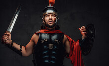 Brutal Roman Champion In Dark ...