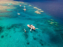 Super Yacht On The Great Barrier Reef, Queensland