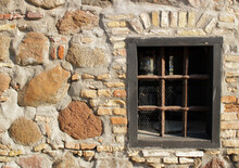 Old Window In A Stone House