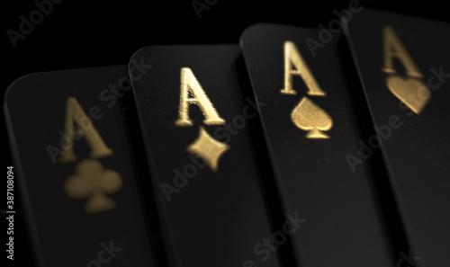 Canvas-taulu Black Casino Cards Aces