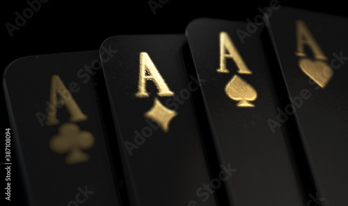 Tablou Canvas Black Casino Cards Aces