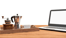 Set Of Coffee With Moka Pot, G...