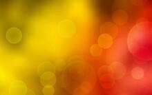 Sunshine And Juicy. Glitter Vintage Lights Background. Defocused Bokeh Effect. Backgrround, Wallpaper For Advertisement Or Design, Device. Copyspace. Magical Shimmering.