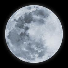 銀色の満月のイラスト