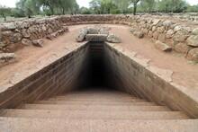 Ancient Sacred Well Of Santa Cristina. Sardinia, Italy