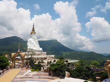 Five Buddhas At Wat Phra That Pha Son Kaew Temple, Khao Kho, Phetchabun, Thailand
