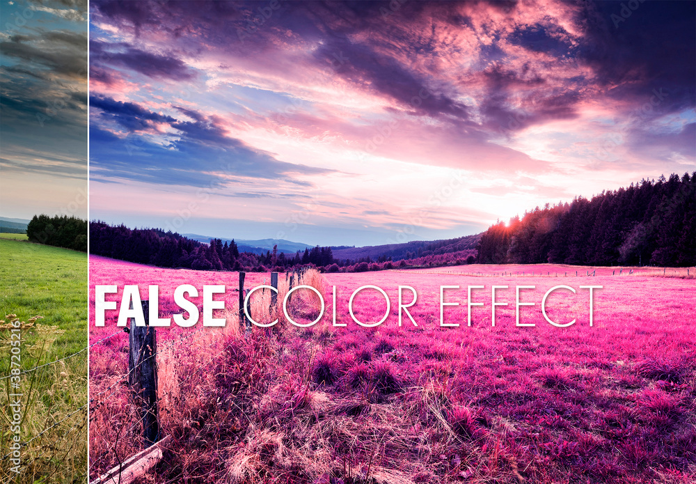 Fototapeta False Color Effect Mockup
