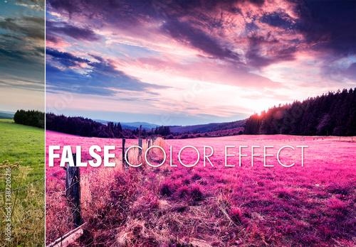False Color Effect Mockup