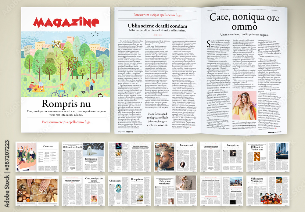 Fototapeta Light-Hearted and Funny Magazine Layout