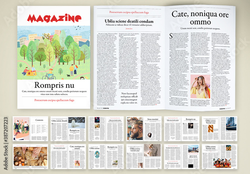 Light-Hearted and Funny Magazine Layout