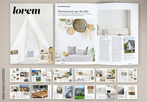 Obraz Naive Interior Design Magazine Layout - fototapety do salonu