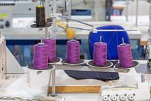 Purple Yarn Bobbins