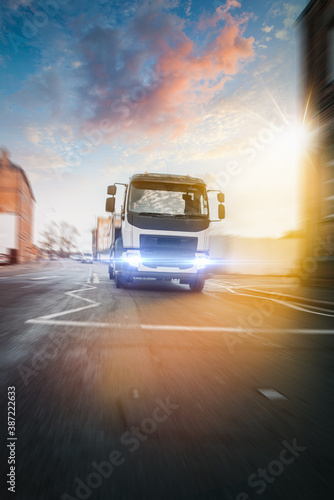 Obraz Truck transportation in motion - fototapety do salonu
