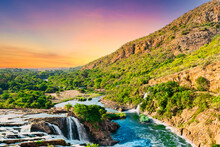 Crocodile River Waterfall At Hartbeespoort Dam In South Africa