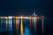 Rovinj Croatia summer night sea reflection