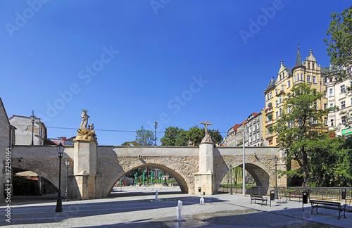 Obraz Klodzko, Poland - St. John Bridge in Klodzko. One of the most important monuments of the Lower Silesia - fototapety do salonu