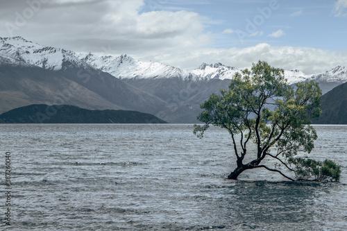 divine beautiful scenery - mountain - cloudy - lake Tapéta, Fotótapéta