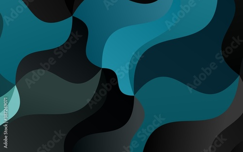 Light BLUE vector template with bent ribbons. Wallpaper Mural