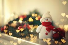Cute Snowman And Christmas Bal...