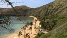 The Beach At Hanauma Bay, Hawaii Kai Neighborhood Of East Honolulu, Oahu.
