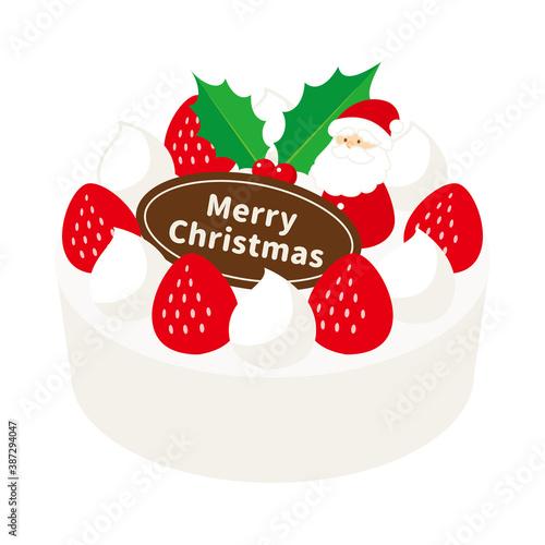 Obraz かわいいクリスマスのベクターアイコンイラスト - fototapety do salonu