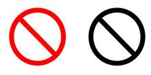 Pair Of No Entry Signs - Vecto...