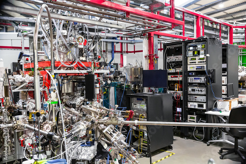 Cuadros en Lienzo Interior of Scientific Experimental Laboratory with experimental stations
