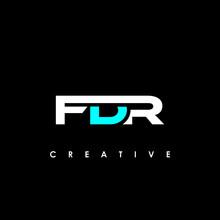 FDR Letter Initial Logo Design Template Vector Illustration