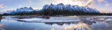 Scenic Bow River Panoramic Lan...