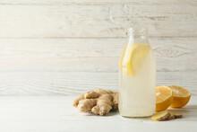 Bottle Of Ginger Lemon Water O...