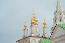 Russian Church Golden Domes In...