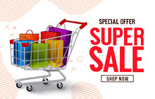Super Sale Vector Banner Desig...