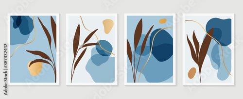 Canvas-taulu Luxury golden Texture wall art vector set
