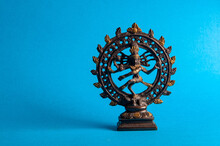 Statue Of Indian God Dancing S...