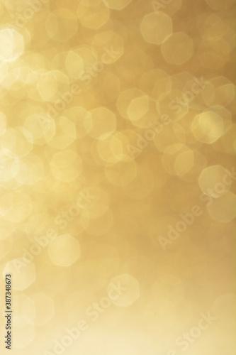 Fotografía Hintergrund in Gold mit Bokeh und glänzenden Lichtern als Motiv zu Weihnachten m