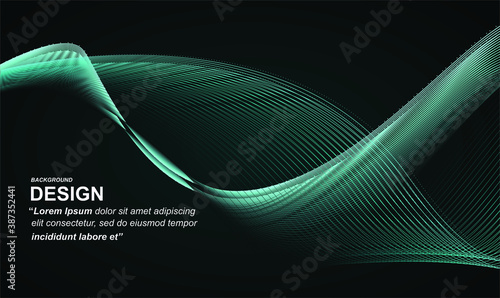 Tela Abstract wave element for design