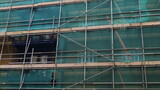 Fototapeta Kwiaty - site with scaffolding